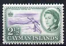 Cayman Islands 1962-64 Fisherman Casting Net 2.5d unmounted mint, SG 169