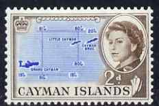 Cayman Islands 1962-64 Map 2d unmounted mint, SG 168