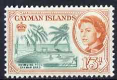 Cayman Islands 1962-64 Swimming Pool 1s3d unmounted mint, SG 175