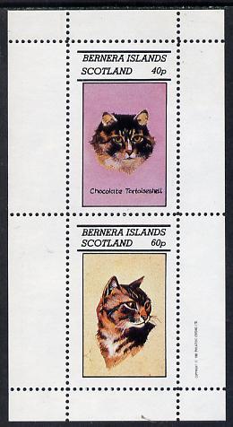 Bernera 1982 Cats (Tortoiseshell etc) perf  set of 2 values (40p & 60p) unmounted mint