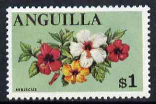 Anguilla 1967 Hibiscus $1 (from def set) unmounted mint SG 29