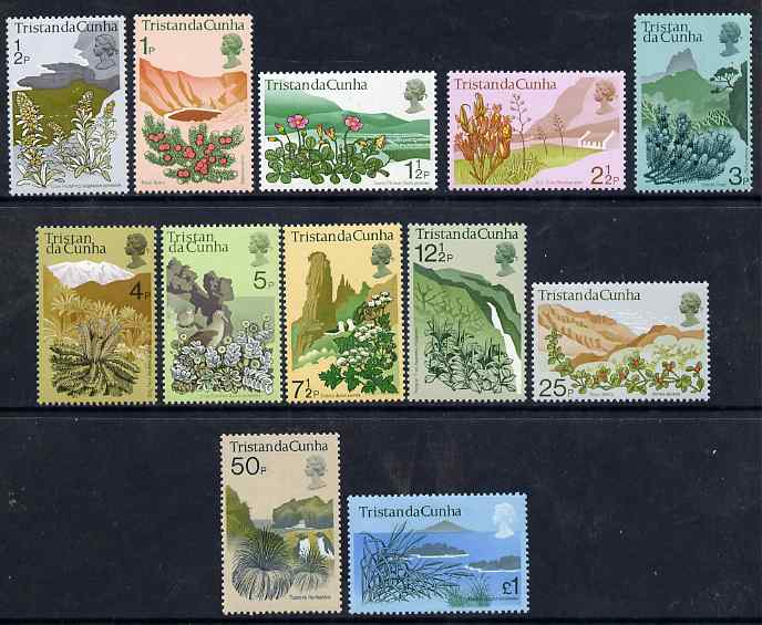 Tristan da Cunha 1972 Flowering Plants definitive set of 12 complete unmounted mint SG 158-69