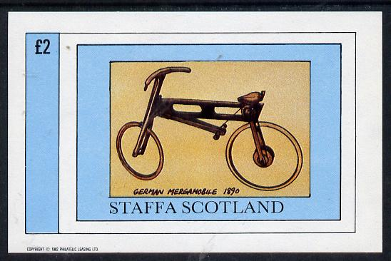 Staffa 1982 Bicycles (German Mergamobile) imperf deluxe sheet (�2 value) unmounted mint