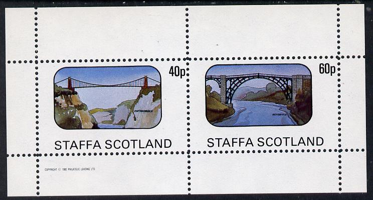 Staffa 1982 Bridges (Clifton & Iron Bridge) perf  set of 2 values (40p & 60p) unmounted mint