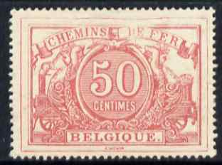 Belgium 1882 Railway Parcels 50c rose fresh mounted mint well centred SG P78
