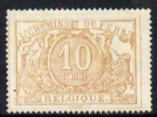 Belgium 1882 Railway Parcels 10c yellow-brown unmounted mint SG P72