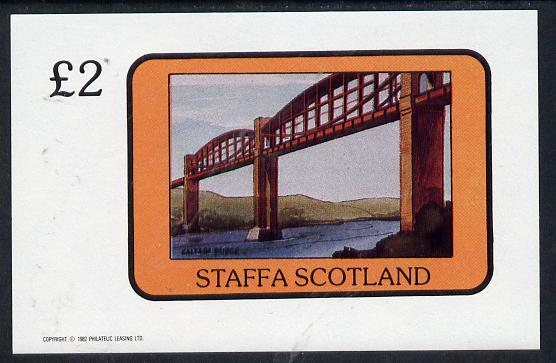 Staffa 1982 Bridges (Saltash Bridge) imperf deluxe sheet (�2 value) unmounted mint