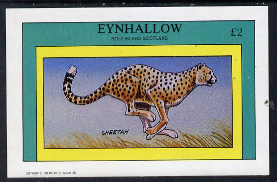 Eynhallow 1982 Animals #06 (Cheetah) imperf deluxe sheet (�2 value) unmounted mint