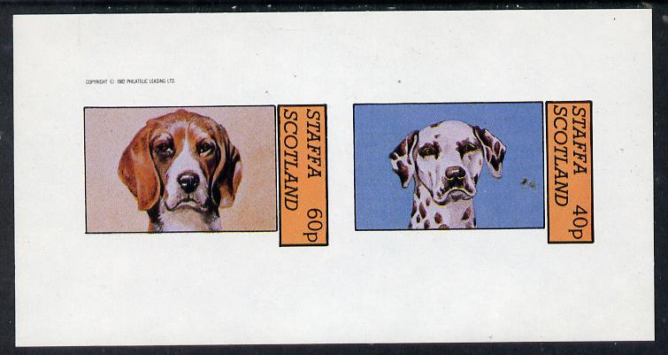 Staffa 1982 Dogs (Dalmation etc) imperf  set of 2 values (40p & 60p) unmounted mint