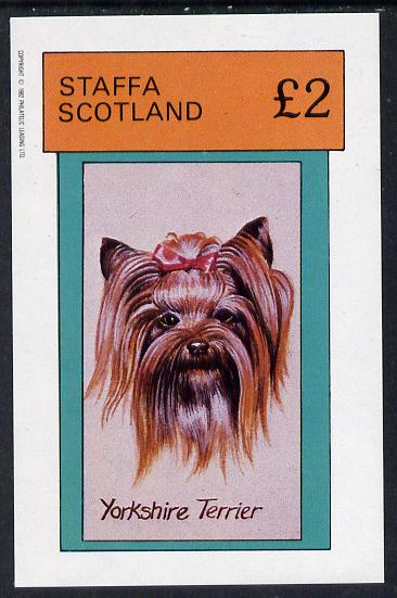 Staffa 1982 Dogs (Yorkshire Terrier) imperf deluxe sheet (�2 value) unmounted mint