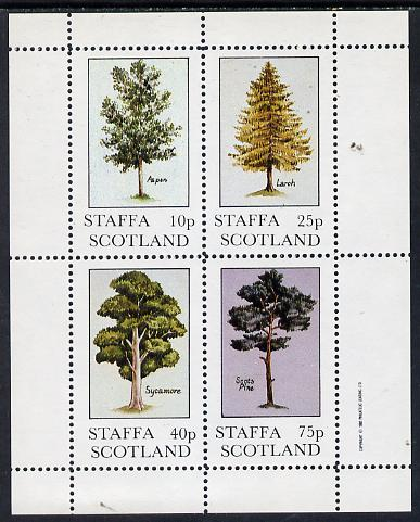 Staffa 1982 Trees (Aspen, Larch, Sycamore & Scots Pine) perf  set of 4 values (10p to 75p) unmounted mint