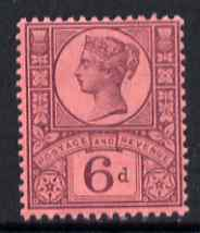 Great Britain 1887-92 QV Jubilee 6d unmounted mint SG208