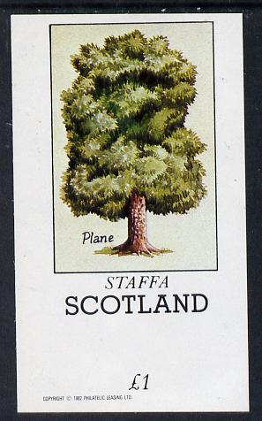 Staffa 1982 Trees (Plane) imperf souvenir sheet (�1 value) unmounted mint