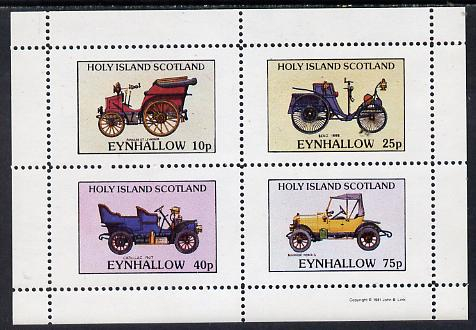 Eynhallow 1981 Vintage Cars #2 (Pannard, Benz, Cadillac & Morris) perf  set of 4 values (10p to 75p) unmounted mint