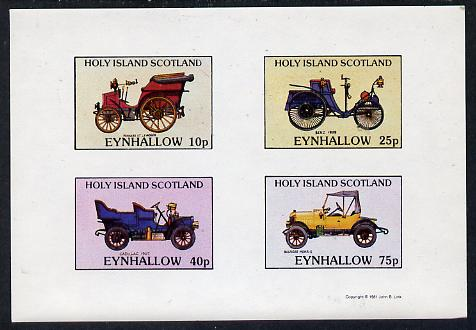 Eynhallow 1981 Vintage Cars #2 (Pannard, Benz, Cadillac & Morris) imperf  set of 4 values (10p to 75p) unmounted mint