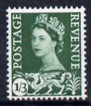 Great Britain Regionals - Wales 1958-67 Wilding 1s3d green wmk Crowns unmounted mint SG W5