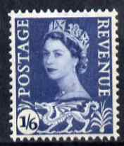 Great Britain Regionals - Wales 1958-67 Wilding 1s6d grey-blue wmk Crowns 2 phosphor bands unmounted mint SG W6