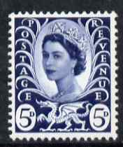Great Britain Regionals - Wales 1967-69 Wilding 5d royal blue no wmk unmounted mint SG W11