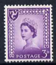 Isle of Man 1958-68 Wilding 3d deep lilac wmk Crowns unmounted mint SG 2