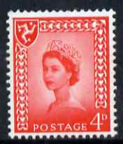 Isle of Man 1968-69 Wilding 4d bright vermilion no wmk unmounted mint SG 6, stamps on
