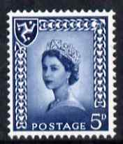 Isle of Man 1968-69 Wilding 5d royal blue no wmk unmounted mint SG 7