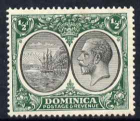 Dominica 1923-33 KG5 Badge 1/2d black & green mounted mint SG 71
