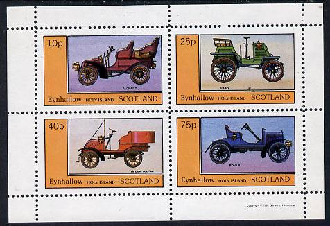 Eynhallow 1981 Vintage Cars #3 (Packard, Riley, De Dion & Rover) perf  set of 4 values (10p to 75p) unmounted mint