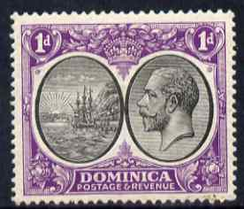 Dominica 1923-33 KG5 Badge 1d black & violet mounted mint SG 72