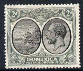 Dominica 1923-33 KG5 Badge 2d black & grey mounted mint SG 76