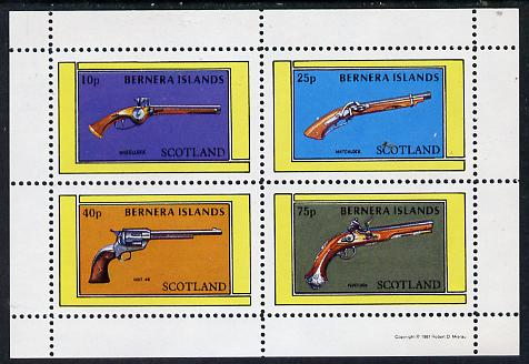Bernera 1981 Pistols (Wheel-lock, Matchlock, Colt 45 & Flintlock) perf  set of 4 values (10p to 75p) unmounted mint