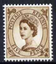 Great Britain 1960-67 Wilding 5d brown Crowns phos unmounted mint SG 616c