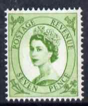 Great Britain 1960-67 Wilding 7d bright green Crowns phos unmounted mint SG 617a