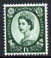 Great Britain 1960-67 Wilding 1s3d green Crowns phos unmounted mint SG 618