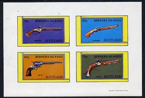 Bernera 1981 Pistols (Wheel-lock, Matchlock, Colt 45 & Flintlock) imperf  set of 4 values (10p to 75p) unmounted mint