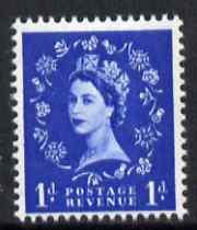 Great Britain 1960-67 Wilding 1d ultramarine Crowns phos unmounted mint SG 611