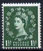 Great Britain 1960-67 Wilding 1.5d green Crowns phos unmounted mint SG 612