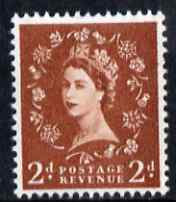 Great Britain 1960-67 Wilding 2d light red-brown Crowns phos (2 bands) unmounted mint SG 613a
