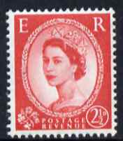 Great Britain 1958-65 Wilding Crowns 2.5d carmine-red unmounted mint SG 574