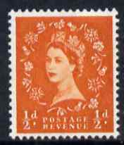 Great Britain 1958-65 Wilding Crowns 1/2d orange-red unmounted mint SG 570