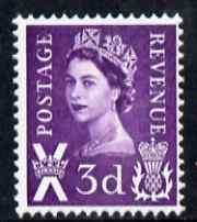Great Britain Regionals - Scotland 1967-70 Wilding 3d deep lilac no wmk unmounted mint SG S7