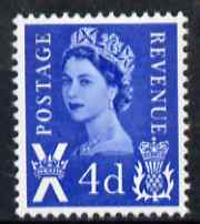 Great Britain Regionals - Scotland 1967-70 Wilding 4d deep bright blue no wmk unmounted mint SG S8