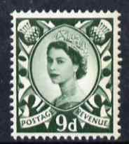Great Britain Regionals - Scotland 1958-67 Wilding 9d bronze-green wmk Crowns unmounted mint SG S4