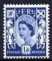Great Britain Regionals - Scotland 1958-67 Wilding 1s6d grey-blue wmk Crowns unmounted mint SG S6