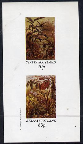 Staffa 1982 Insects imperf  set of 2 values (40p & 60p) unmounted mint