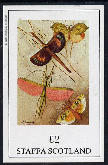 Staffa 1982 Insects imperf deluxe sheet (�2 value) unmounted mint