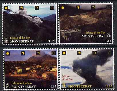 Montserrat 1998 Total Eclipse of the Sun perf set of 4 unmounted mint, SG 1104-7