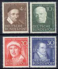 Germany - West 1951 Humanitarian Relief Fund perf set of 4 mounted mint SG 1069-72