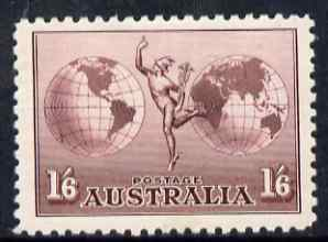 Australia 1934 Hermes 1s6d no wmk fresh mounted mint well centred, SG 153 cat \A342, stamps on