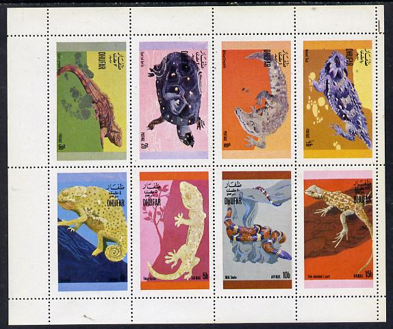 Dhufar 1972 Reptiles perf set of 8 values (0.5b to 15b) unmounted mint