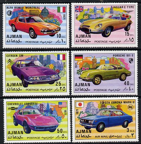 Ajman 1971 Modern Cars set of 6 unmounted mint, Mi 1169-74